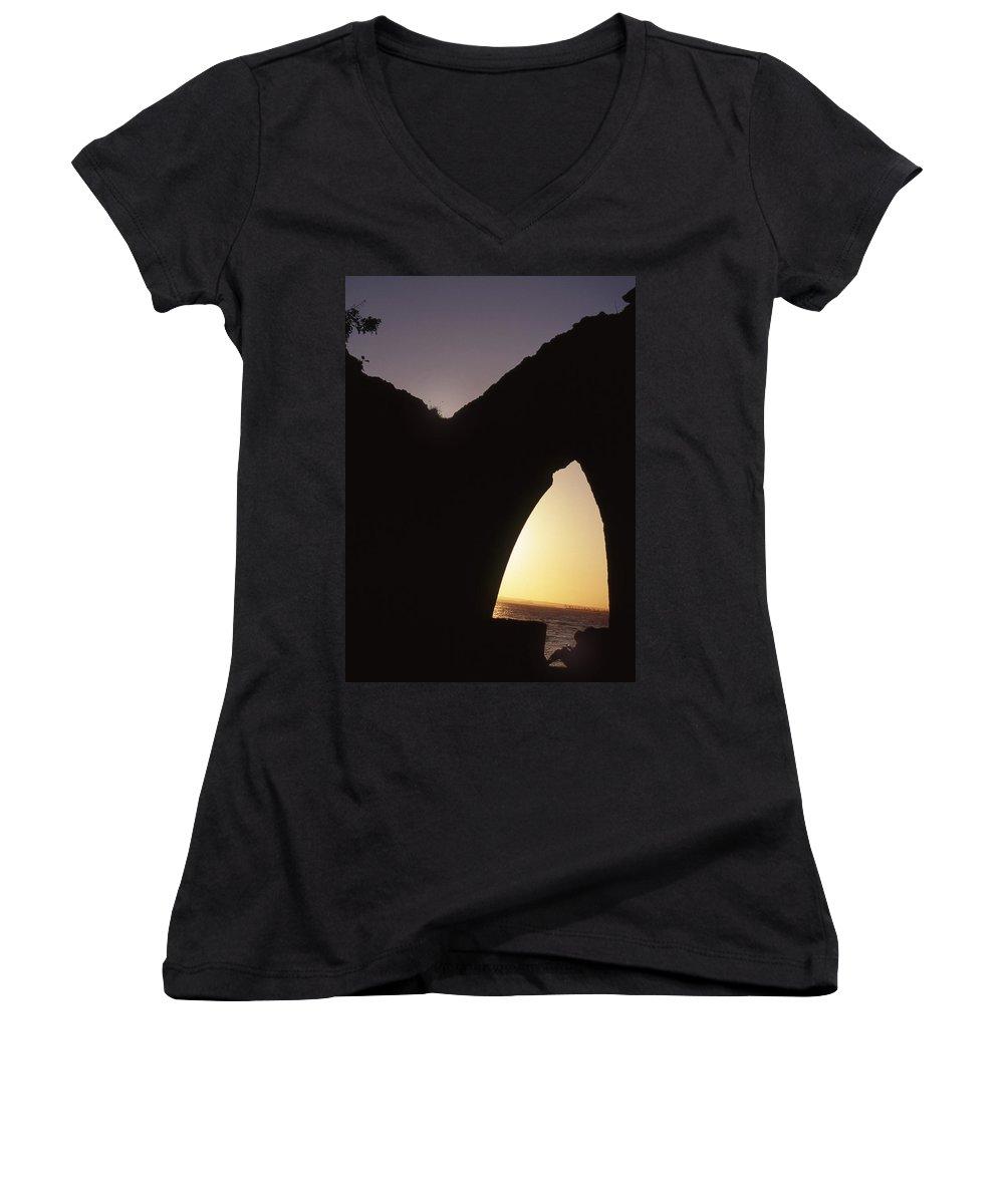 Bahia Women's V-Neck T-Shirt featuring the photograph Bahian Sunset by Patrick Klauss