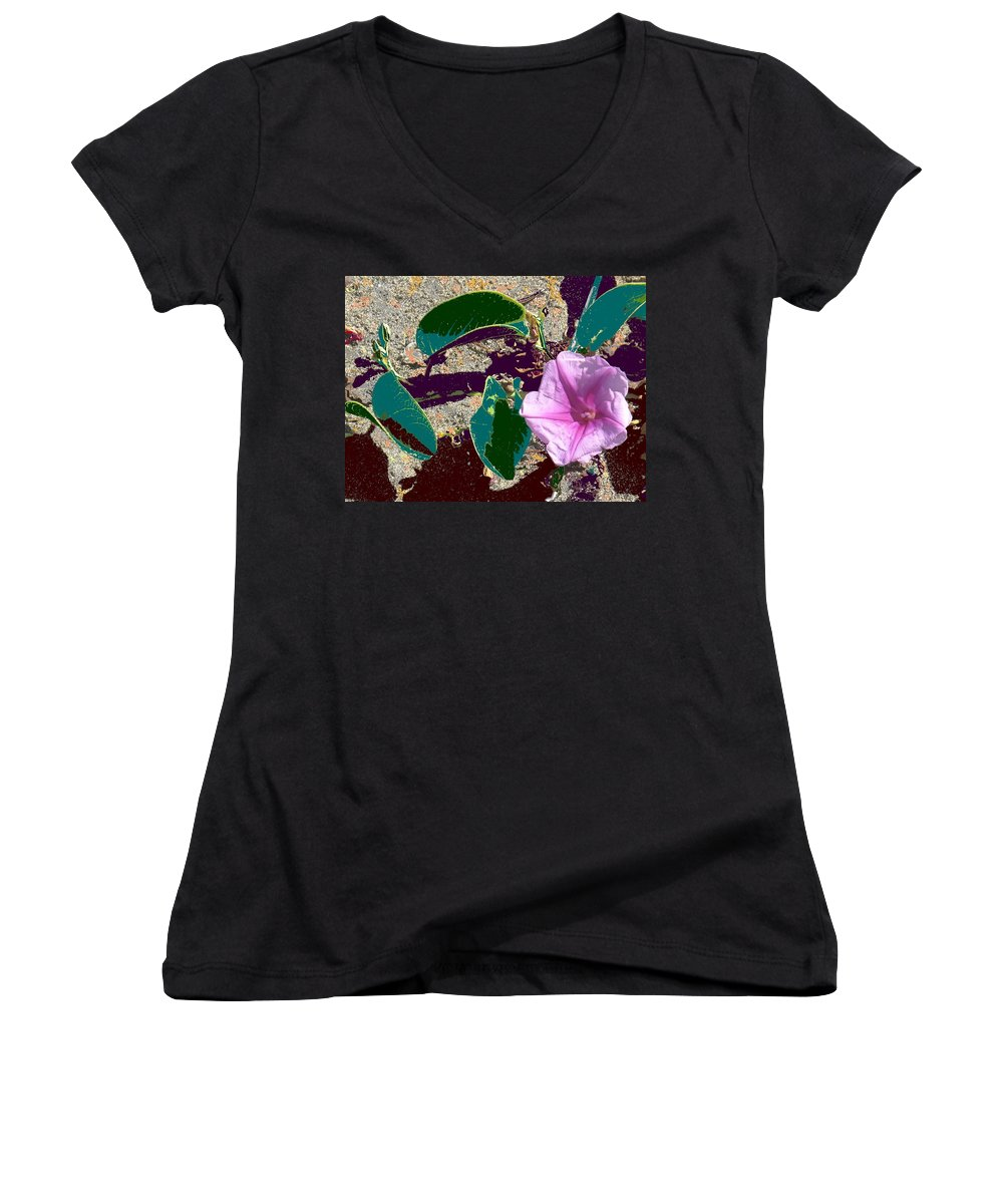 Beach Women's V-Neck (Athletic Fit) featuring the photograph Beach Flower by Ian MacDonald