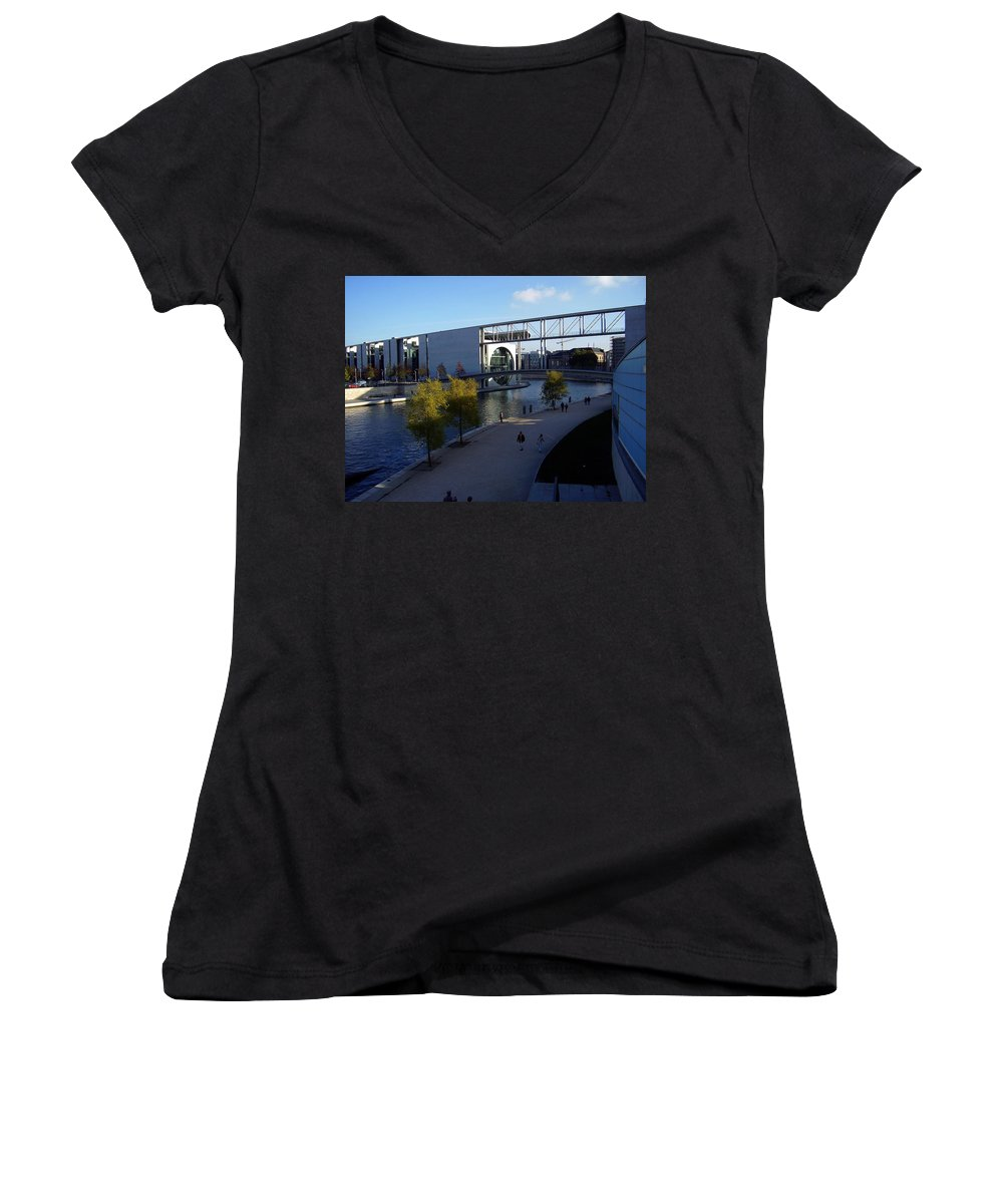 Paul-loebe Women's V-Neck (Athletic Fit) featuring the photograph Berlin II by Flavia Westerwelle