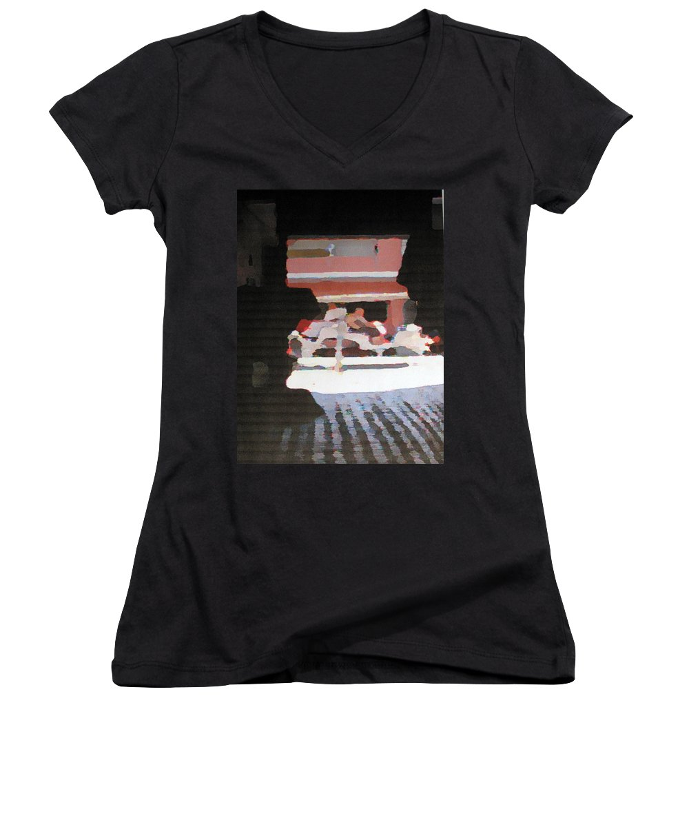 Bermuda Women's V-Neck (Athletic Fit) featuring the photograph Bermuda Carriage Impressions by Ian MacDonald