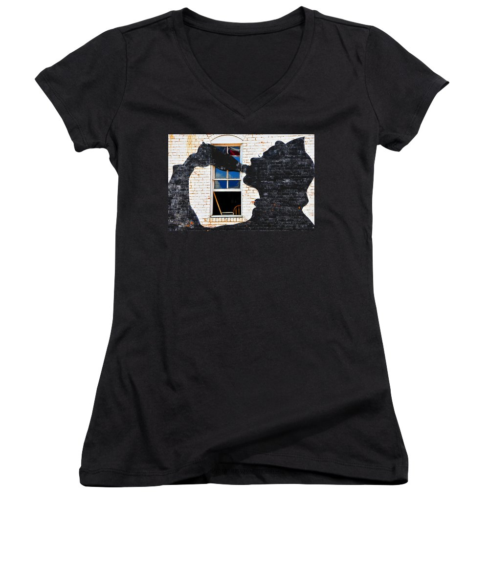 Photography Women's V-Neck (Athletic Fit) featuring the photograph Black Betty by Skip Hunt