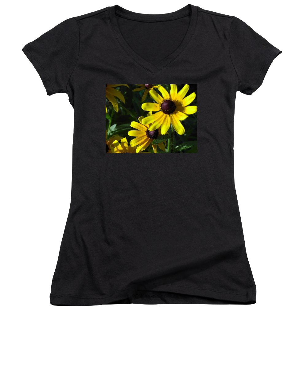 Charity Women's V-Neck T-Shirt featuring the photograph Black Eyed Susan by Mary-Lee Sanders