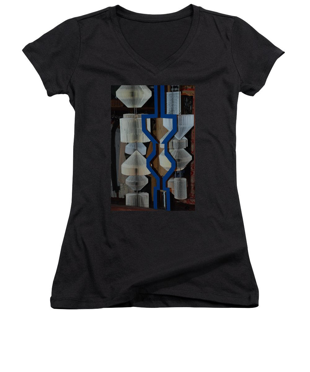 Window Women's V-Neck (Athletic Fit) featuring the photograph Blue And White by Rob Hans