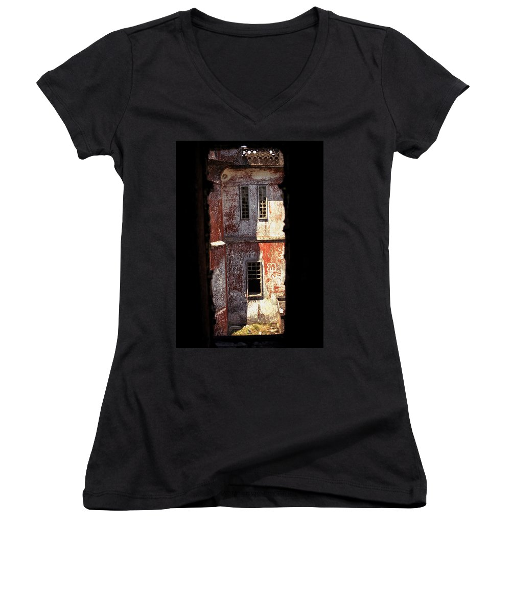 Bokor Women's V-Neck T-Shirt featuring the photograph Bokor by Patrick Klauss