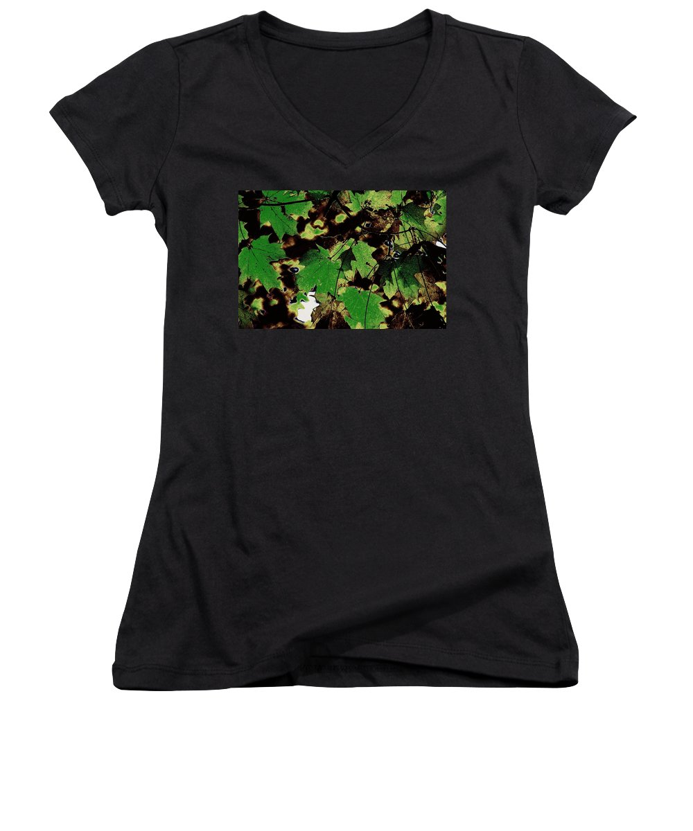 Landscape Women's V-Neck (Athletic Fit) featuring the photograph Chocolate Pudding by Ed Smith