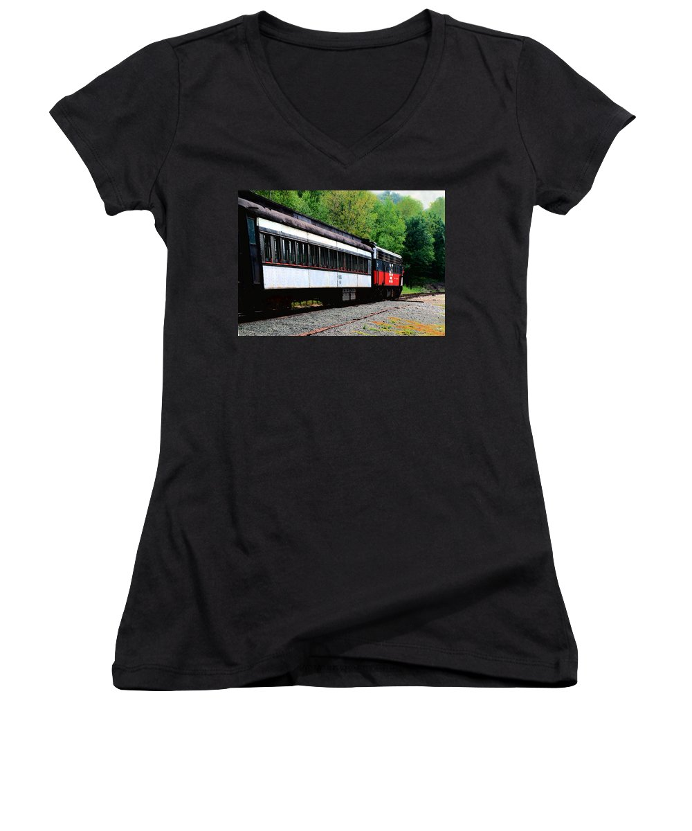 Train Women's V-Neck (Athletic Fit) featuring the photograph Chugging Along by RC DeWinter
