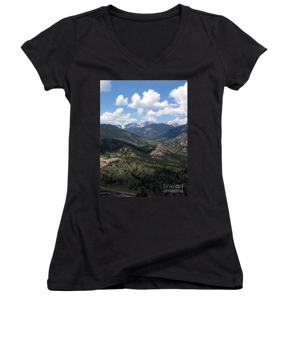 Colorado Women's V-Neck T-Shirt featuring the photograph Colorado by Amanda Barcon