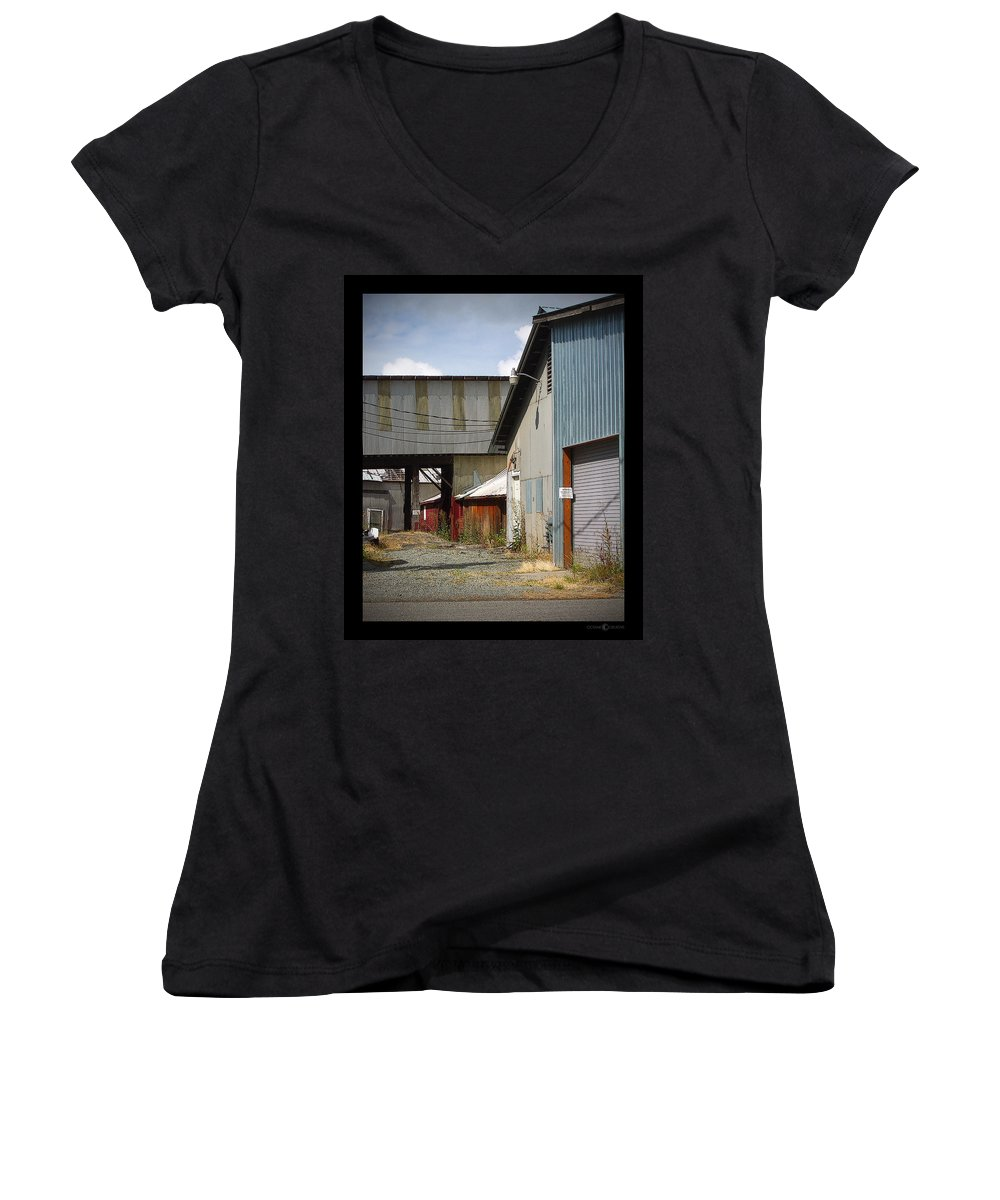 Corrugated Women's V-Neck (Athletic Fit) featuring the photograph Corrugated by Tim Nyberg