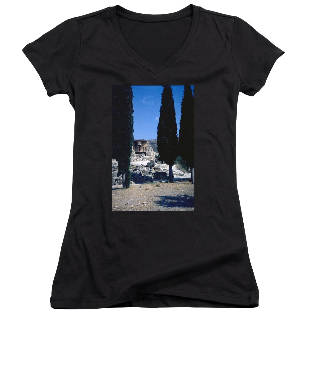 Crete Women's V-Neck (Athletic Fit) featuring the photograph Crete by Flavia Westerwelle