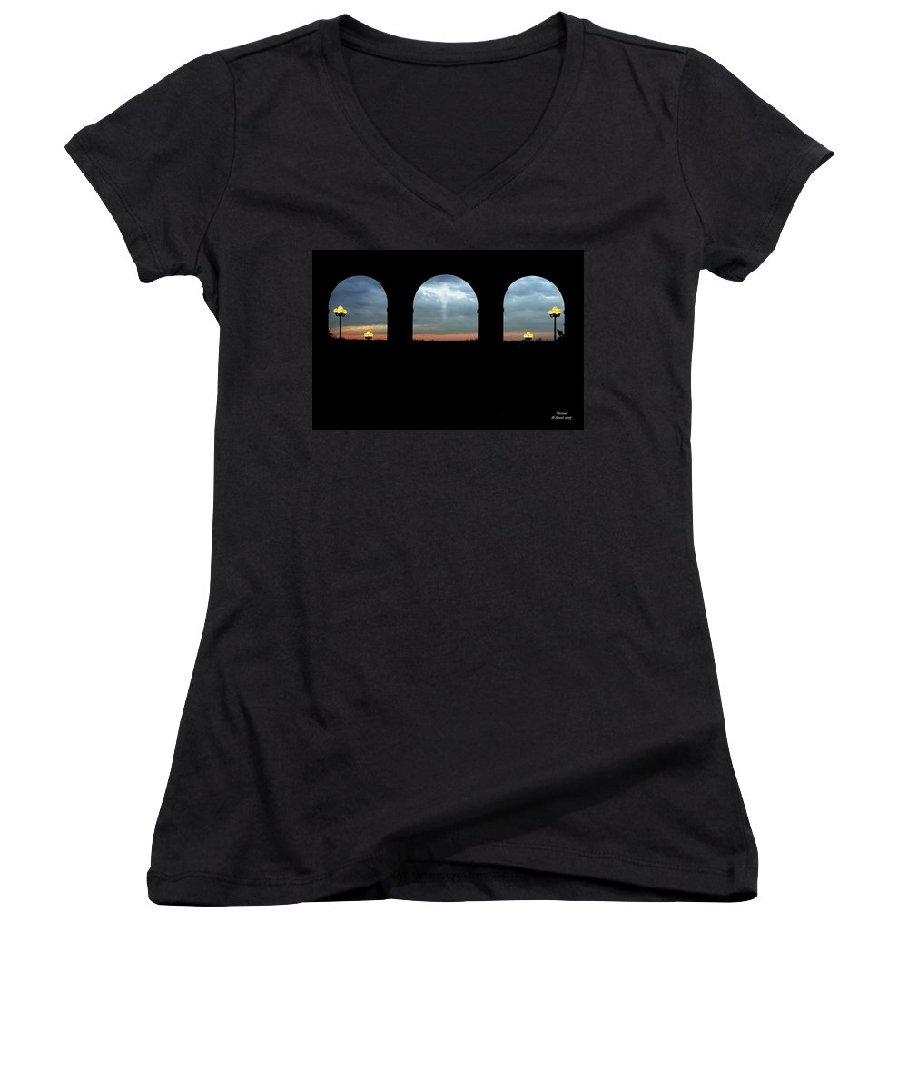 Arch Women's V-Neck (Athletic Fit) featuring the photograph Decisions by Albert Stewart