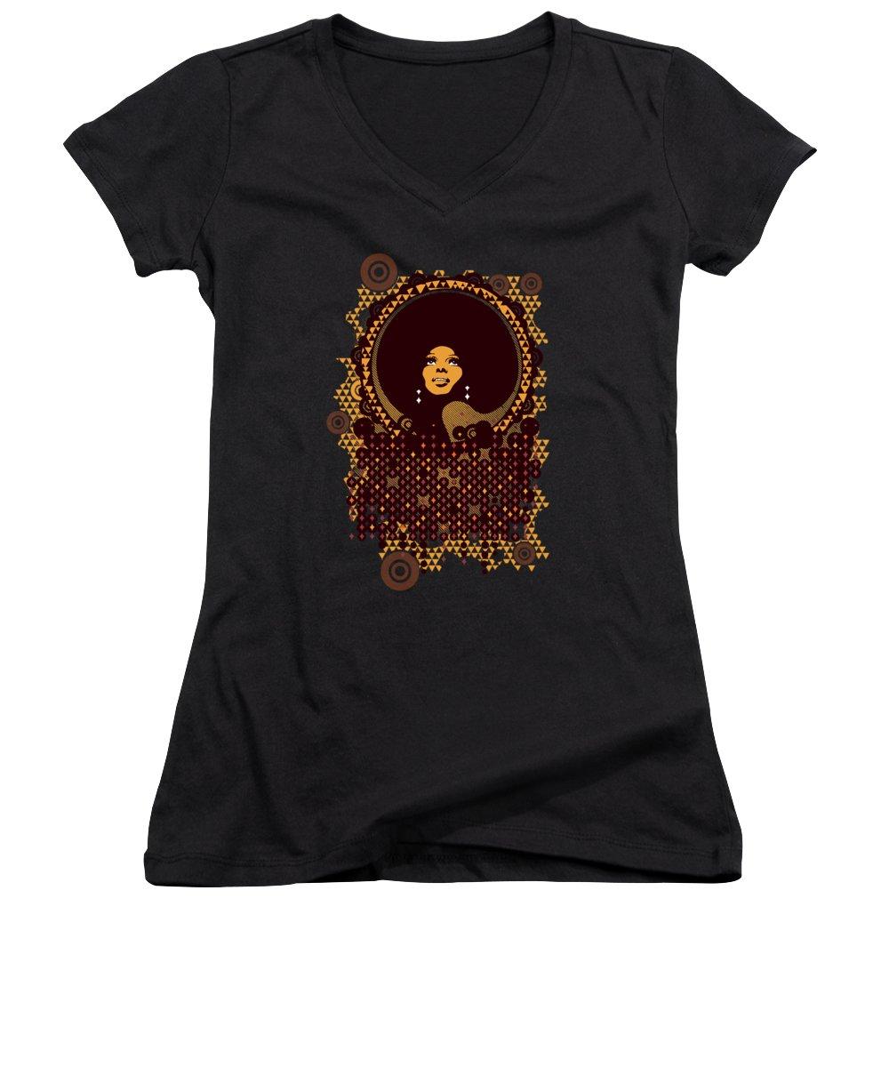 Rhythm And Blues Women's V-Neck T-Shirts