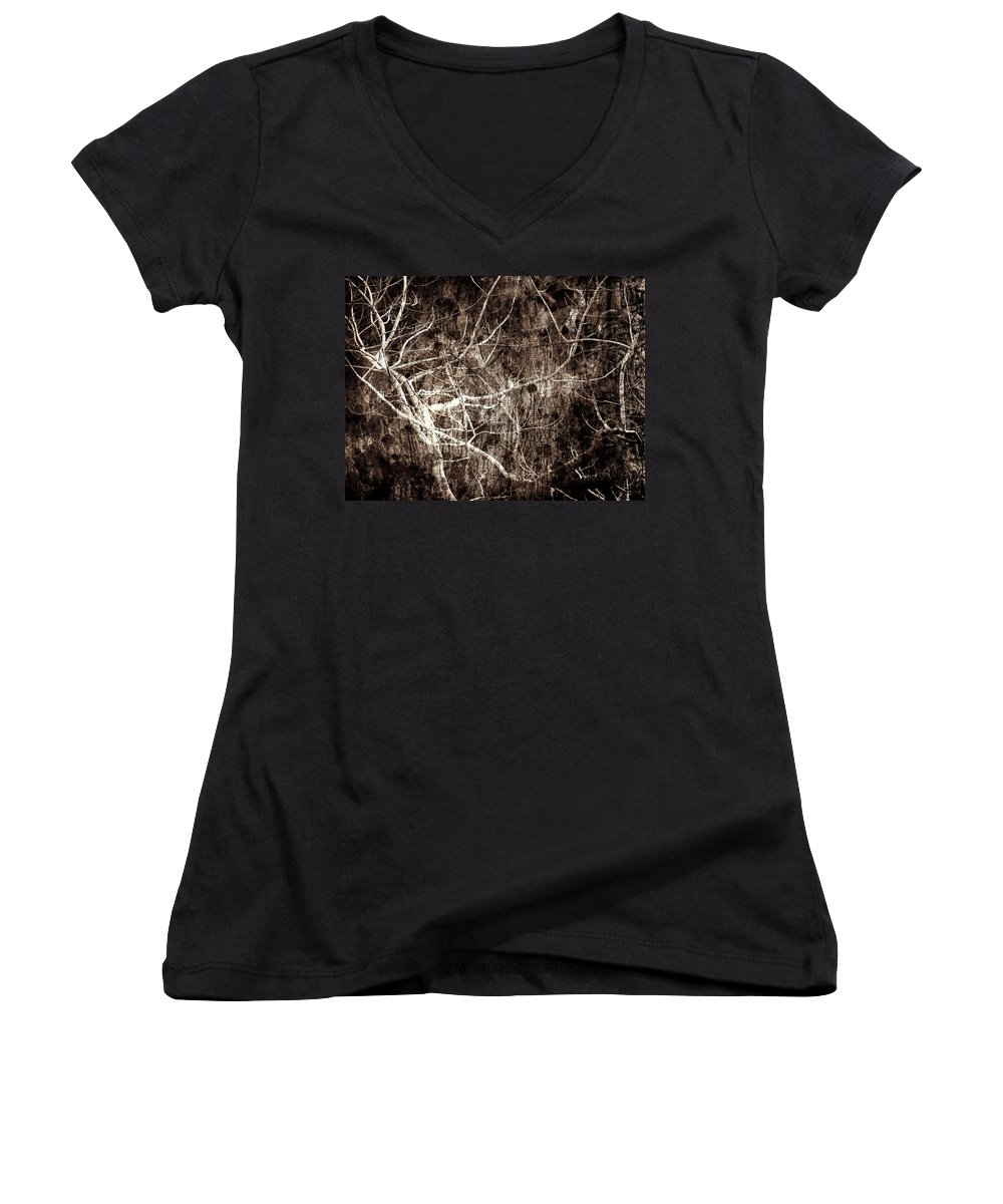 Tree Women's V-Neck T-Shirt featuring the photograph Endless by Gaby Swanson