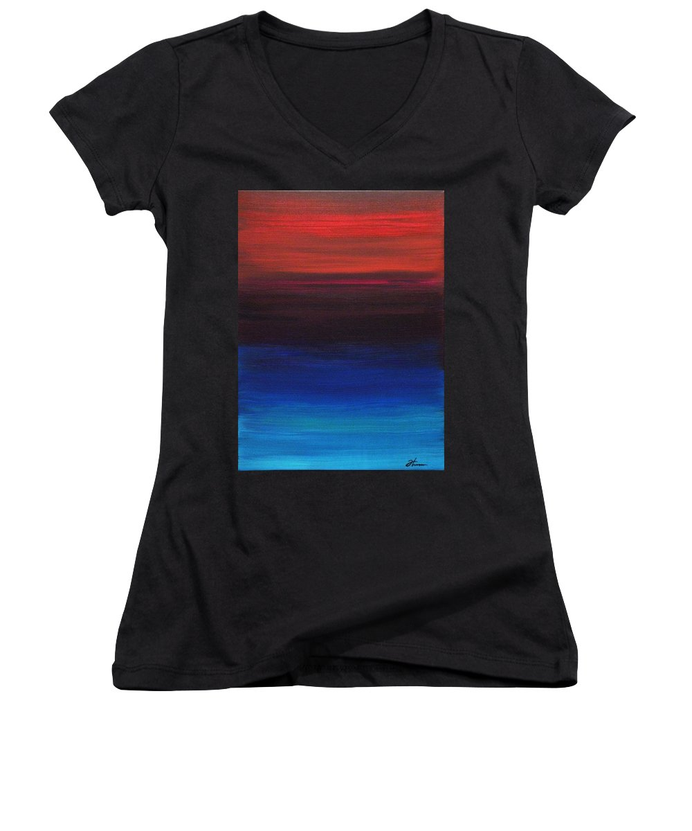 Original Women's V-Neck (Athletic Fit) featuring the painting Endless by Todd Hoover