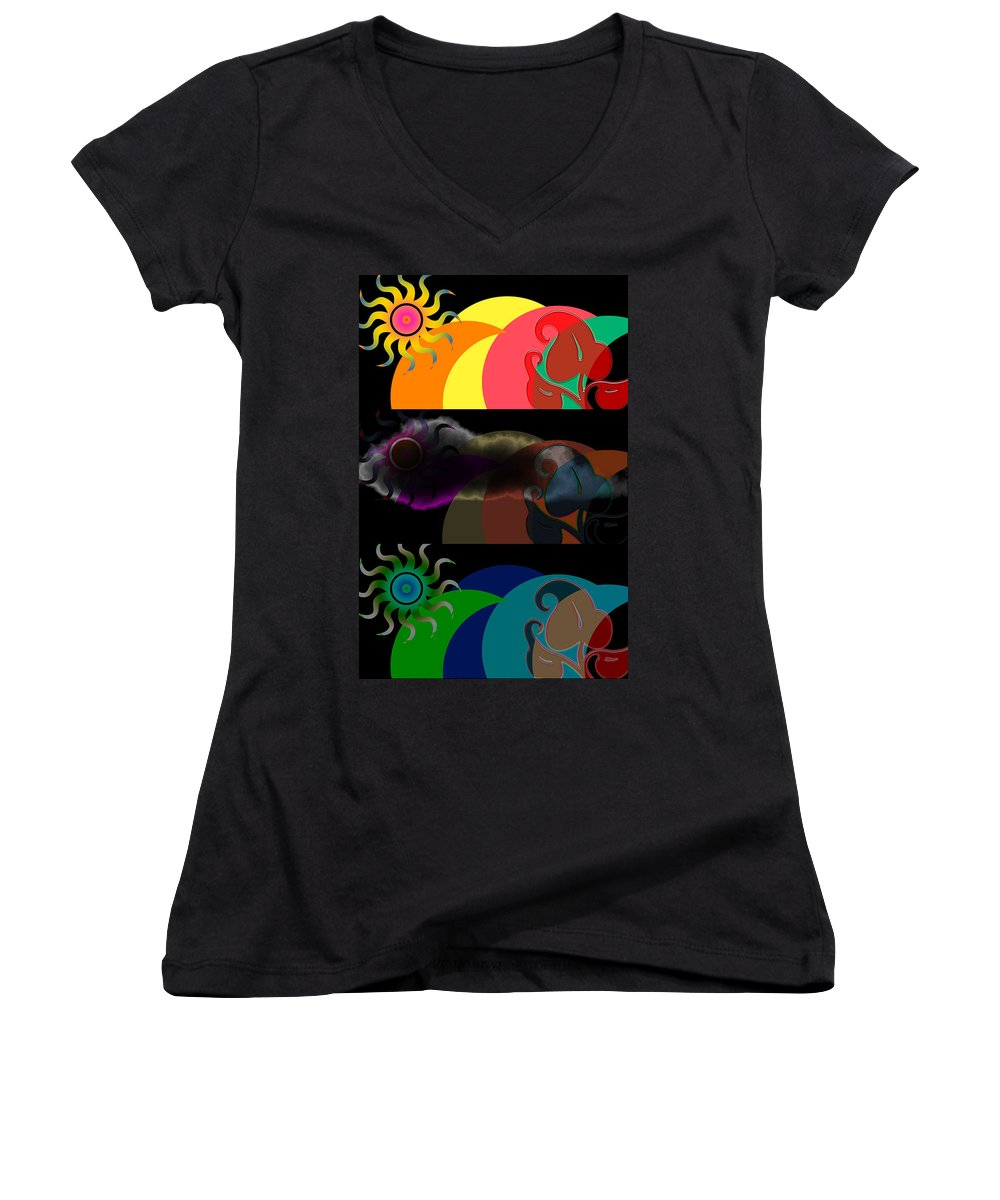 Women's V-Neck (Athletic Fit) featuring the digital art Environment by Clayton Bruster
