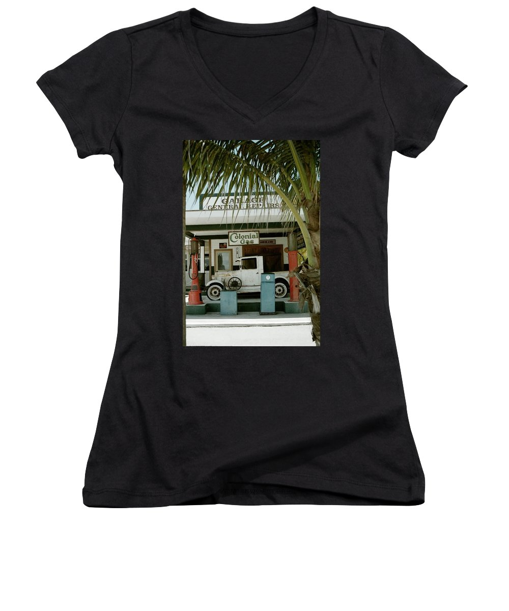 Everglade City Women's V-Neck (Athletic Fit) featuring the photograph Everglade City II by Flavia Westerwelle
