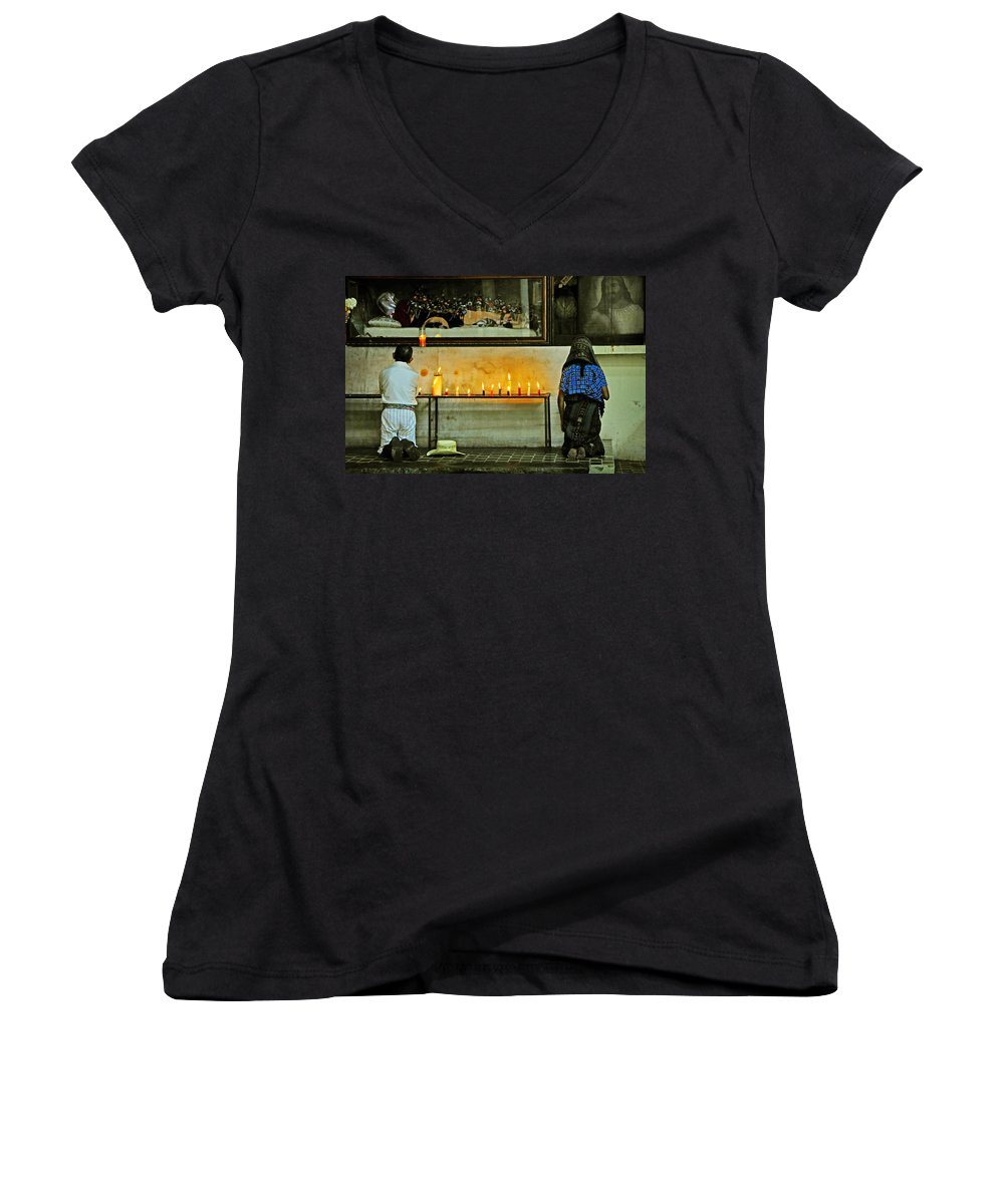 Skip Hunt Women's V-Neck (Athletic Fit) featuring the photograph Faith by Skip Hunt