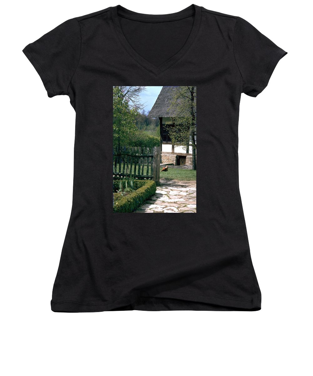 German Women's V-Neck T-Shirt featuring the photograph Farm by Flavia Westerwelle