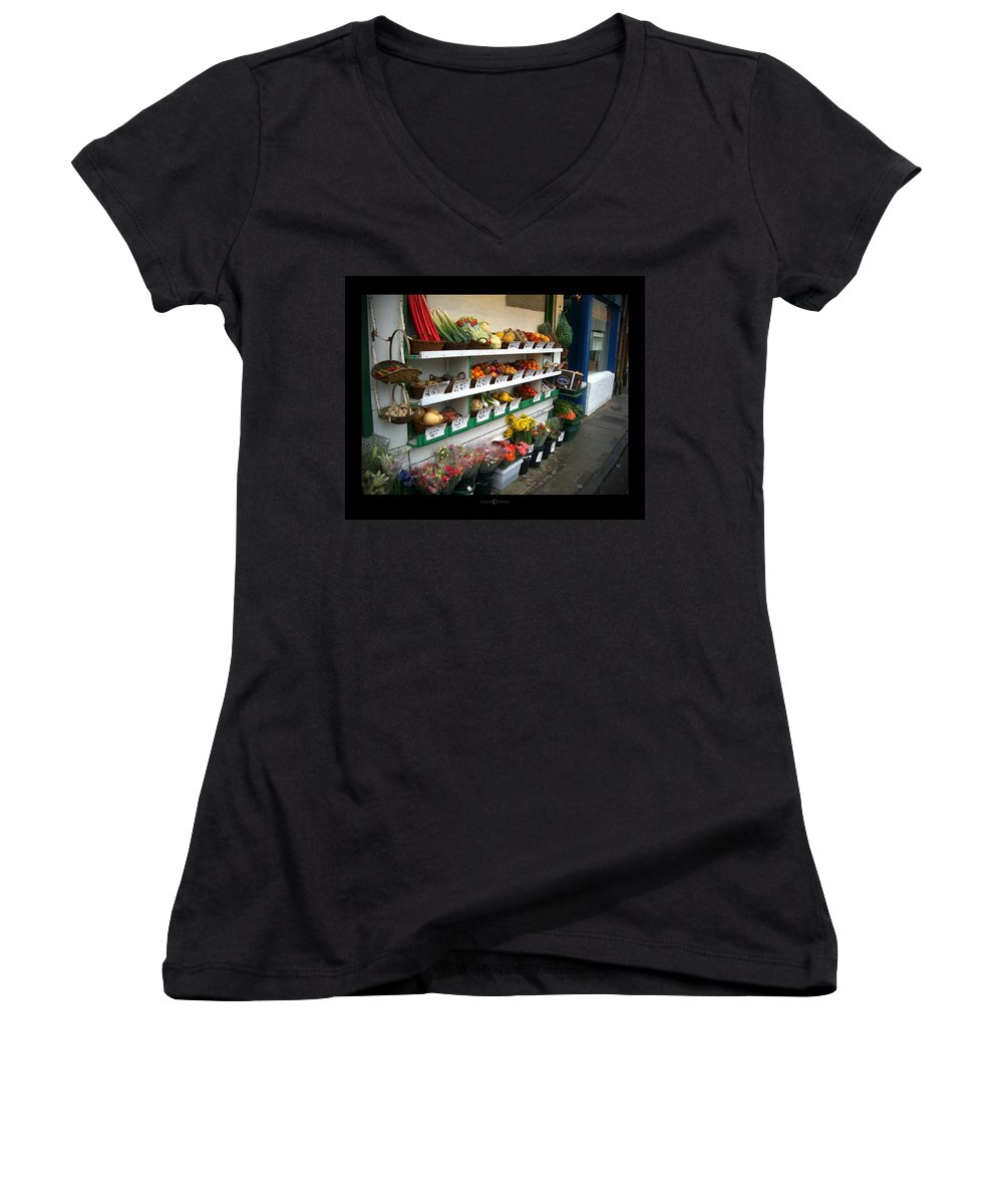 Shaftesbury Women's V-Neck (Athletic Fit) featuring the photograph Fresh Produce by Tim Nyberg
