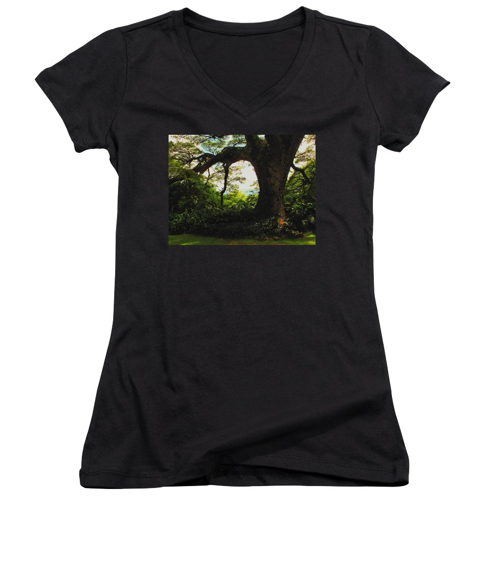 Tropical Women's V-Neck (Athletic Fit) featuring the photograph Green Giant by Ian MacDonald