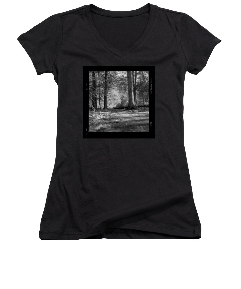 Trees Women's V-Neck (Athletic Fit) featuring the photograph Ground Floor by Jean Macaluso