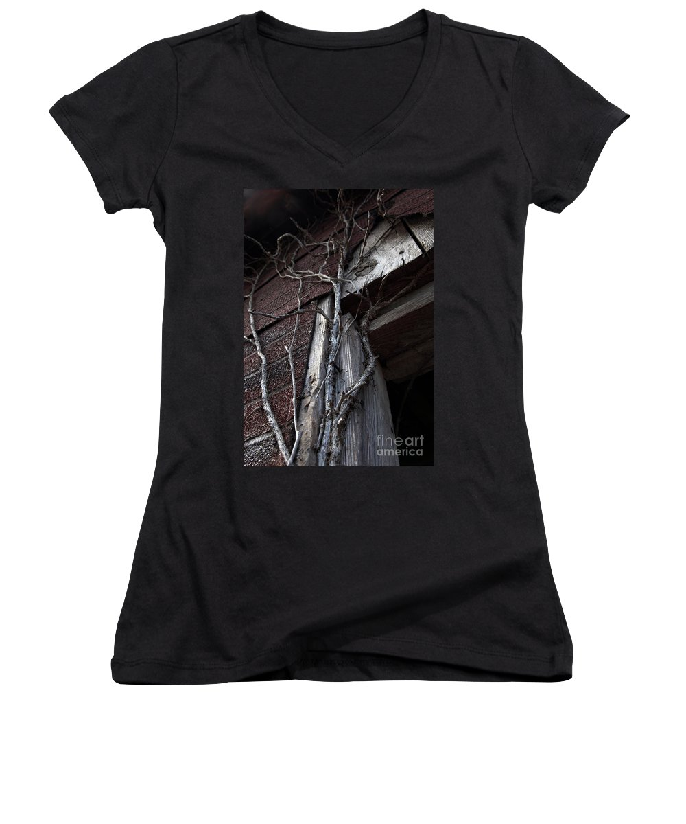 Broken Women's V-Neck T-Shirt featuring the photograph Growth by Amanda Barcon