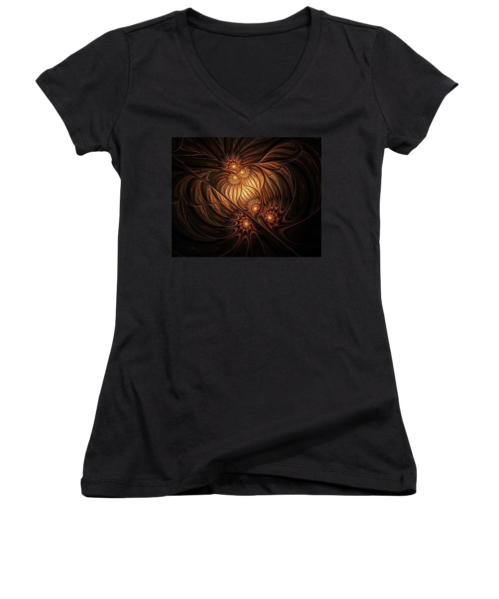 Digital Art Women's V-Neck (Athletic Fit) featuring the digital art Heavenly Onion by Amanda Moore