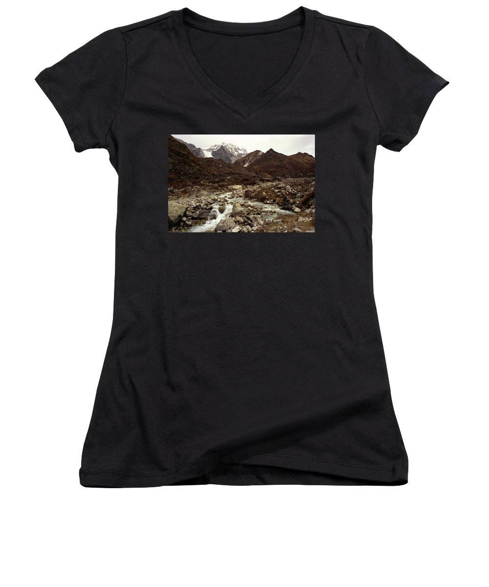 Himalaya Women's V-Neck (Athletic Fit) featuring the photograph Himalaya by Patrick Klauss