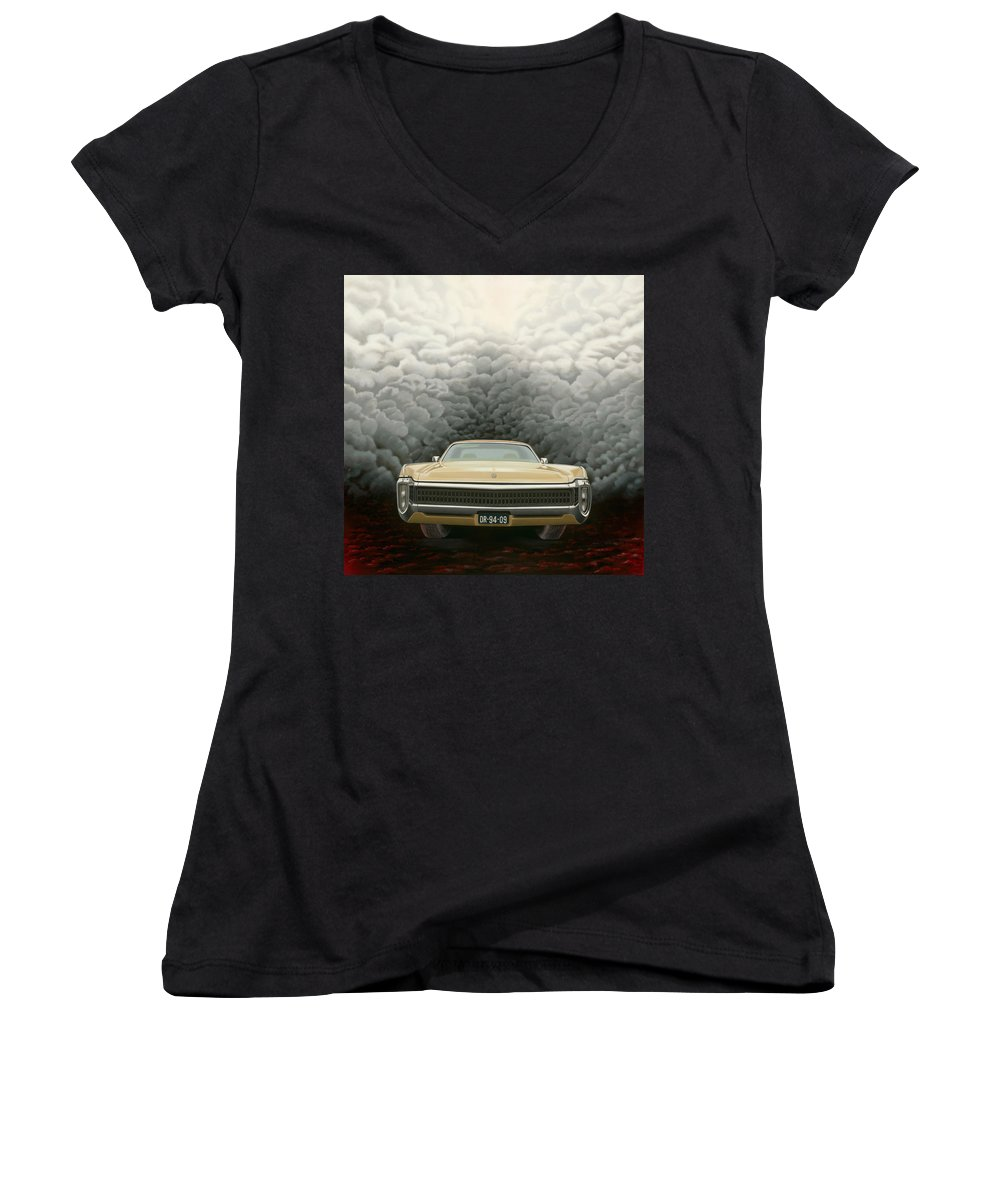 Surreal Women's V-Neck T-Shirt featuring the painting Imperial by Patricia Van Lubeck