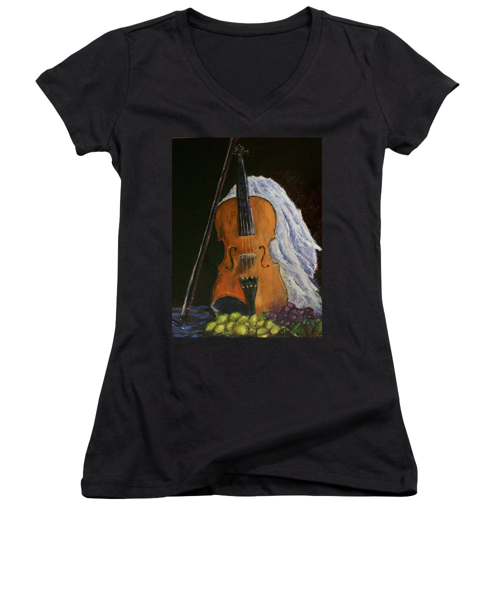 Original Women's V-Neck (Athletic Fit) featuring the painting Intermission by Stephen King