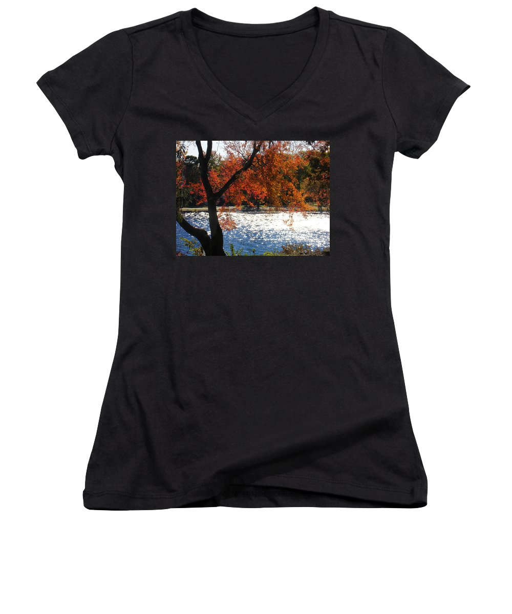 Landscape Women's V-Neck T-Shirt featuring the photograph Lakewood by Steve Karol