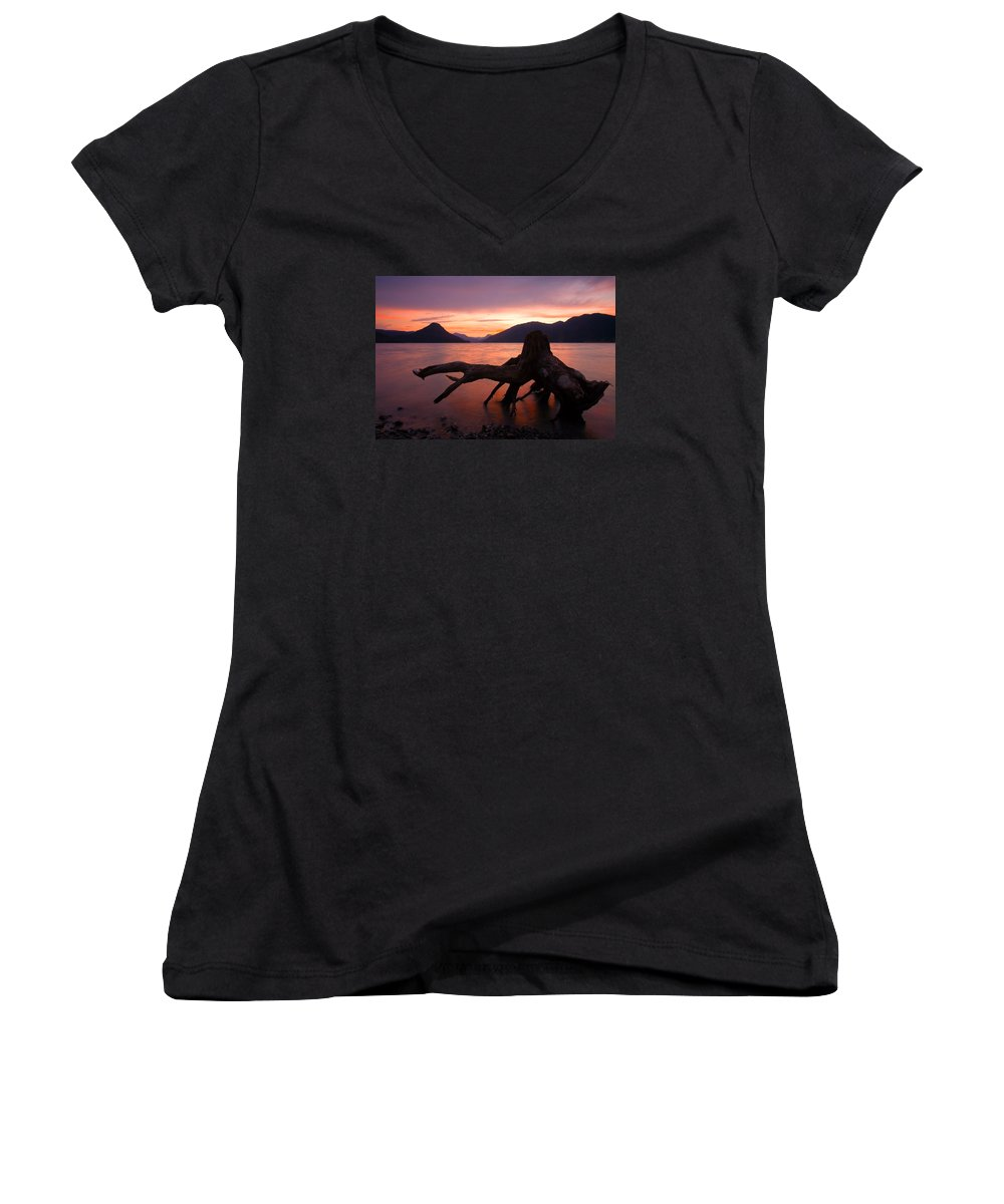 Stump Women's V-Neck T-Shirt featuring the photograph Left Behind by Mike Dawson