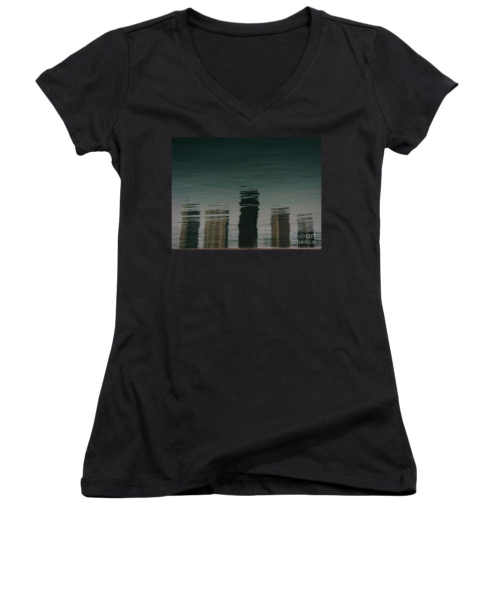 Lake Women's V-Neck (Athletic Fit) featuring the photograph Lonely Soul by Dana DiPasquale