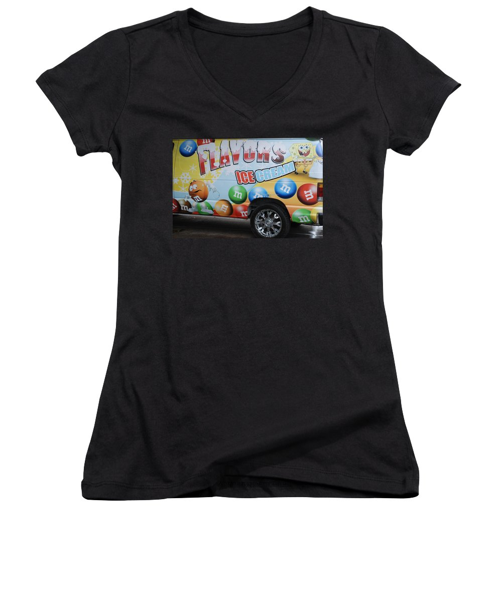 Sponge Bob Women's V-Neck (Athletic Fit) featuring the photograph M And M Flavors For The Kids by Rob Hans