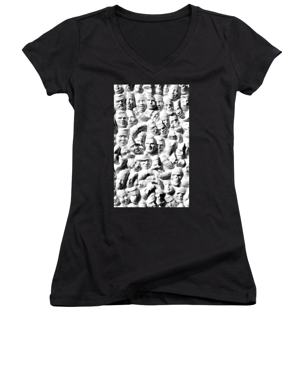 Figure Women's V-Neck (Athletic Fit) featuring the sculpture Melancholic Journey 1 by Mark Cawood