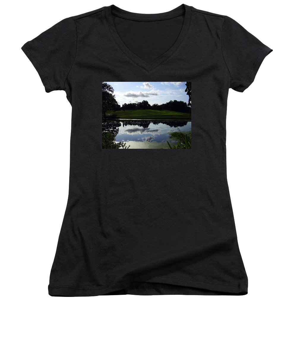 Middleton Place Women's V-Neck (Athletic Fit) featuring the photograph Middleton Place II by Flavia Westerwelle