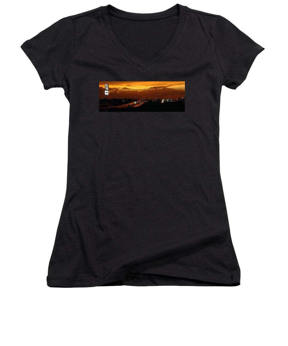 Landscape Women's V-Neck (Athletic Fit) featuring the photograph Missouri 291 by Steve Karol