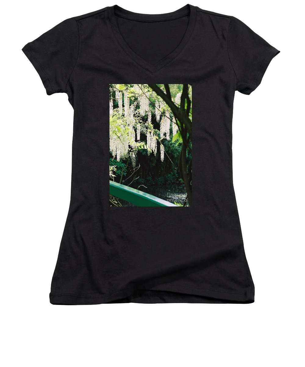 Monet Women's V-Neck (Athletic Fit) featuring the photograph Monet's Garden Delights by Nadine Rippelmeyer