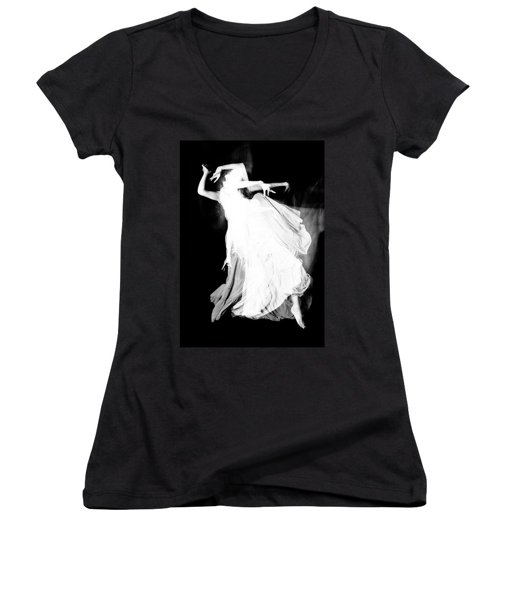 Dance Women's V-Neck (Athletic Fit) featuring the photograph Movement by Scott Sawyer