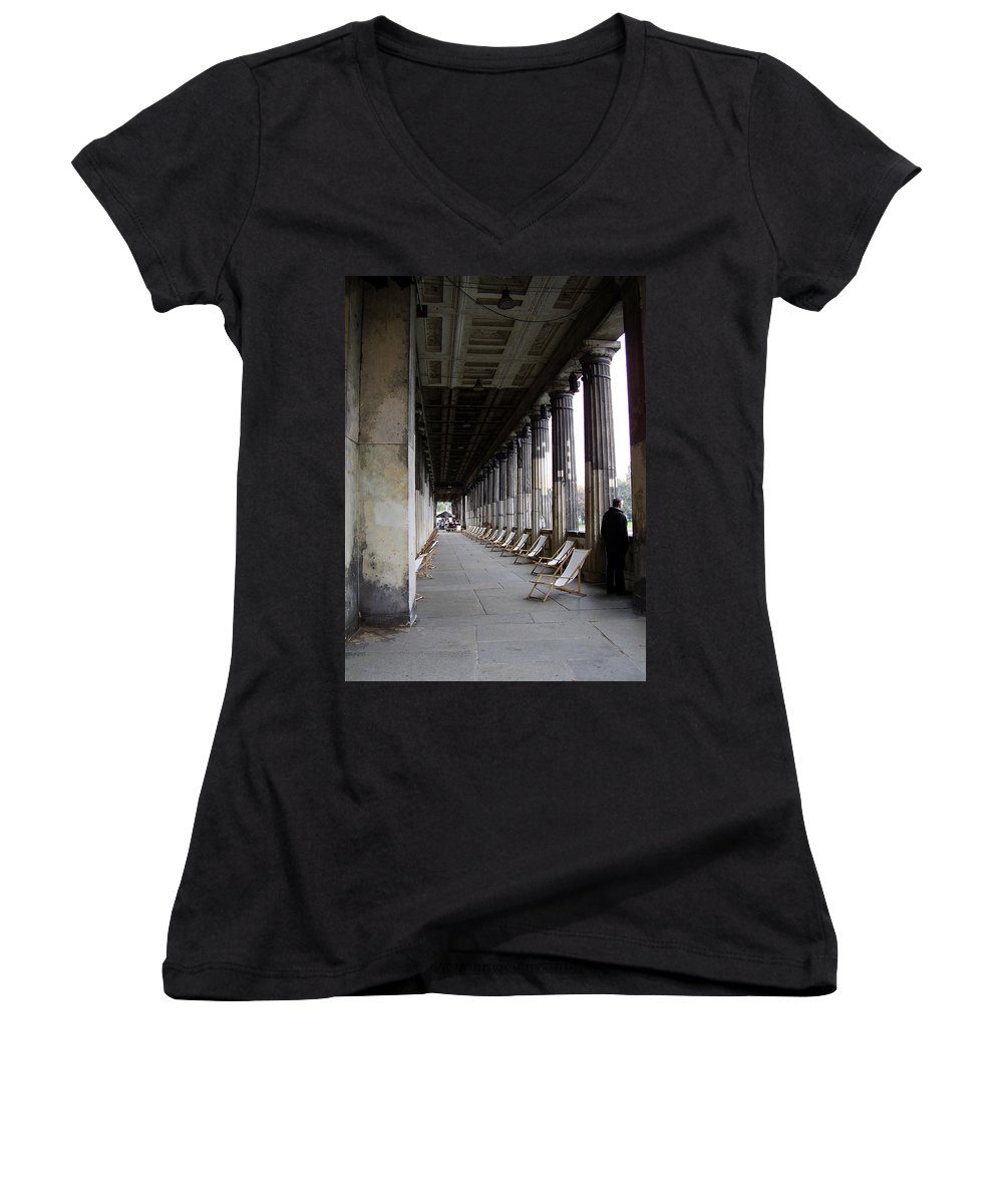 Museumsinsel Women's V-Neck (Athletic Fit) featuring the photograph Museumsinsel by Flavia Westerwelle
