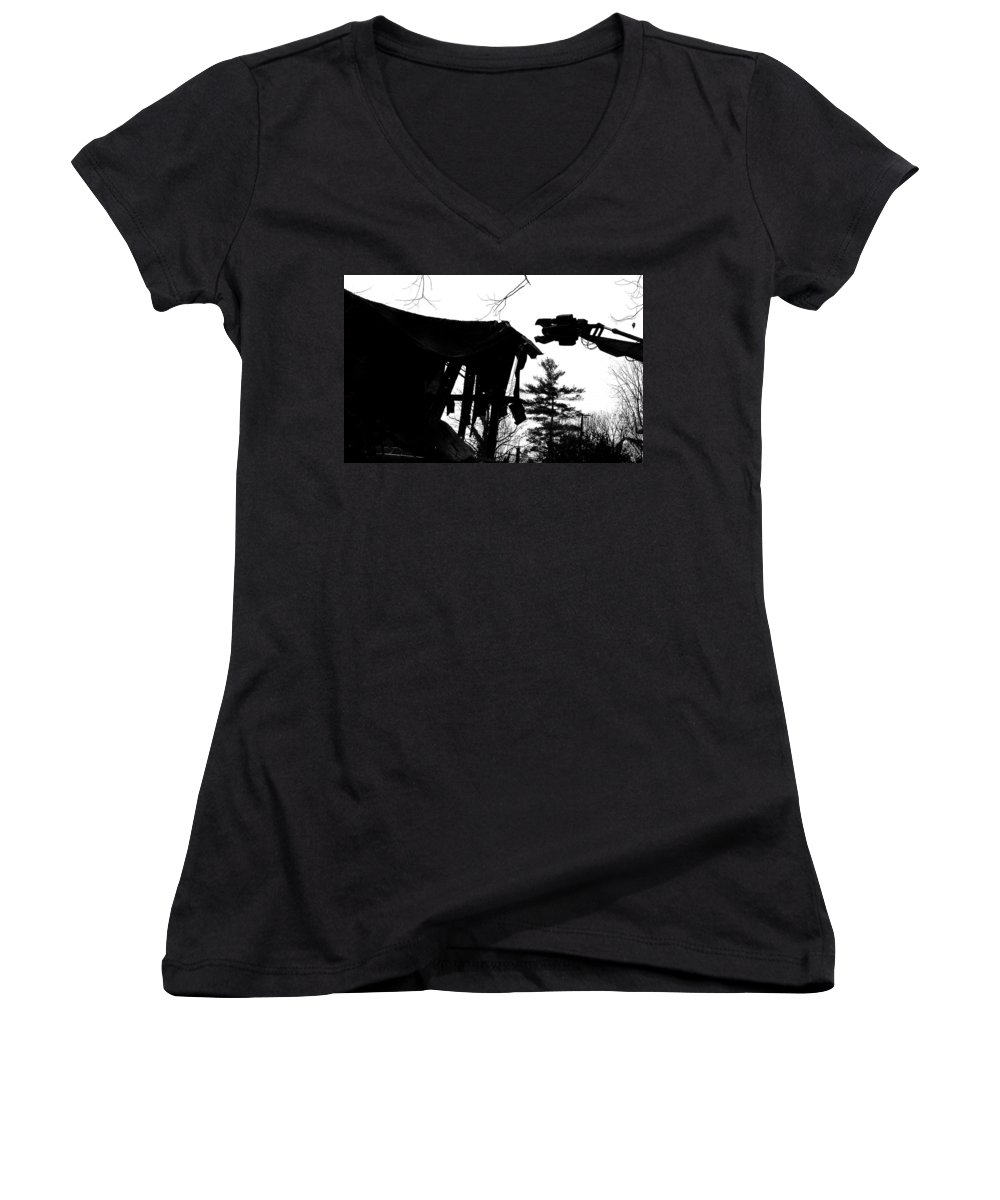 Machine Women's V-Neck T-Shirt featuring the photograph Nessie by Jean Macaluso