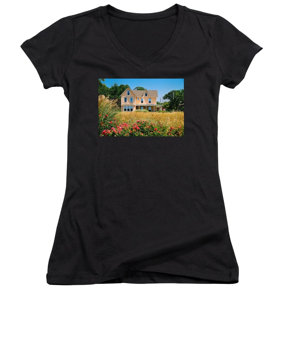Landscape Women's V-Neck (Athletic Fit) featuring the photograph New Jersey Landscape by Steve Karol
