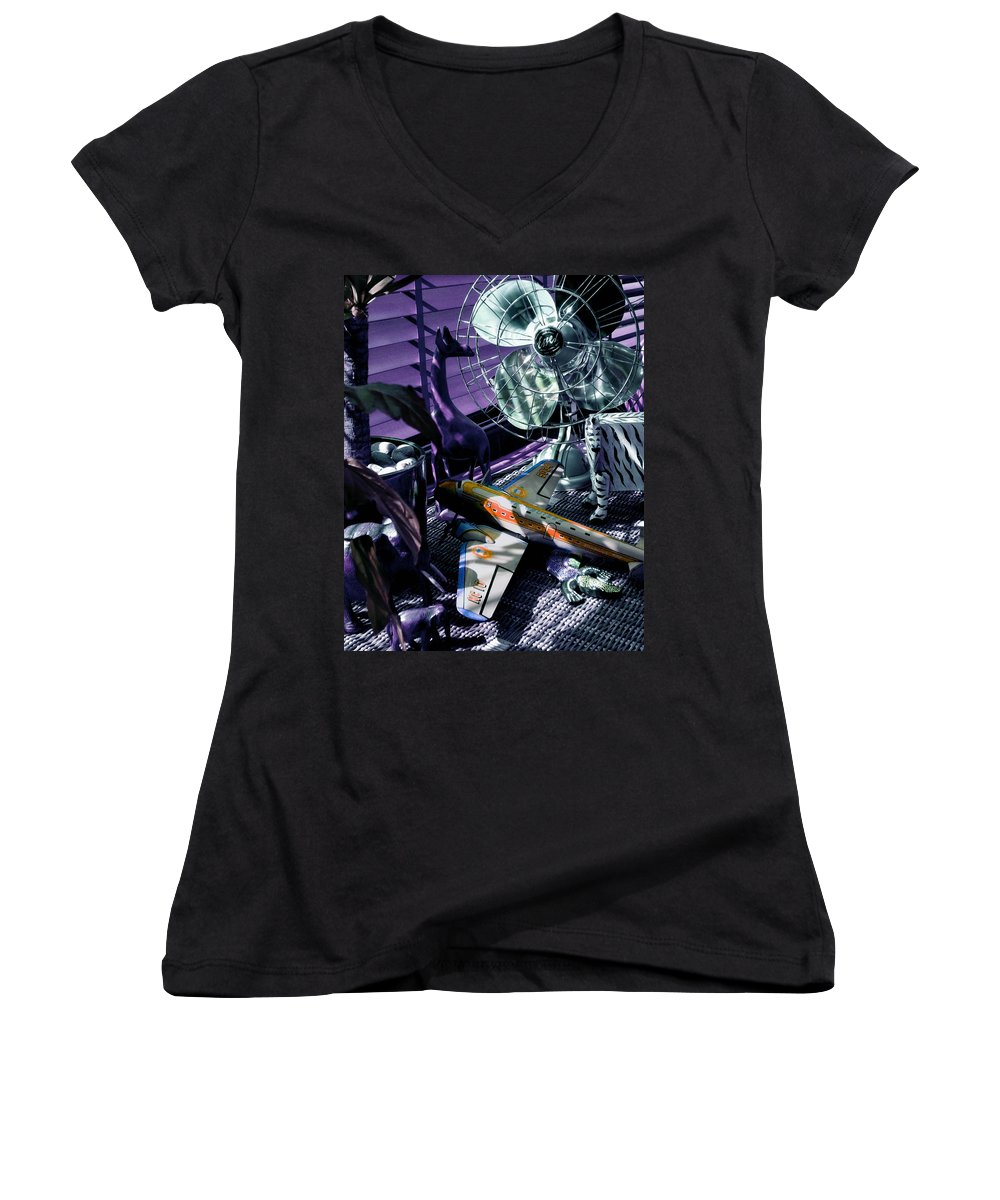Still Life Women's V-Neck T-Shirt featuring the photograph Only Angels Have Wings by Charles Stuart