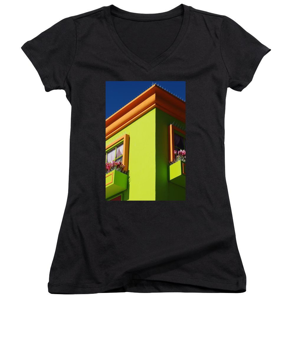 Sky Women's V-Neck T-Shirt featuring the photograph Pastle Corners by Rob Hans