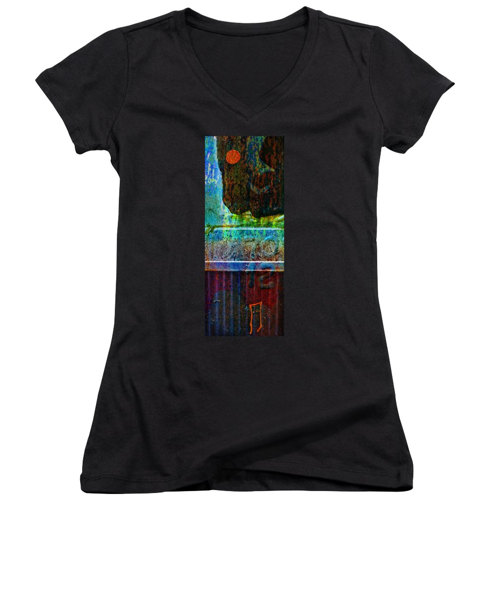 Pi Women's V-Neck (Athletic Fit) featuring the photograph piNsky by Skip Hunt