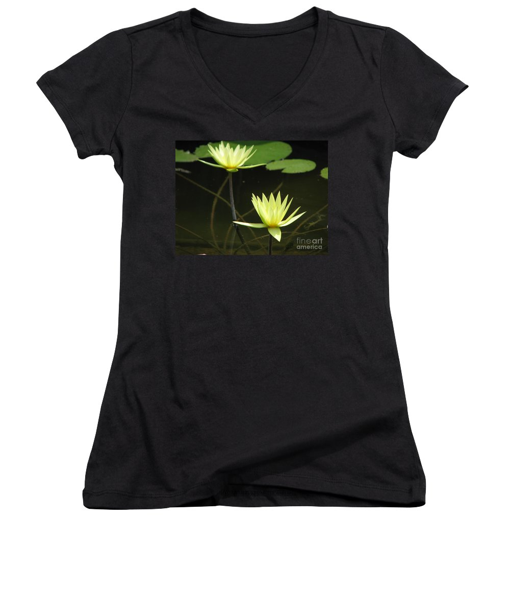 Pond Women's V-Neck (Athletic Fit) featuring the photograph Pond by Amanda Barcon