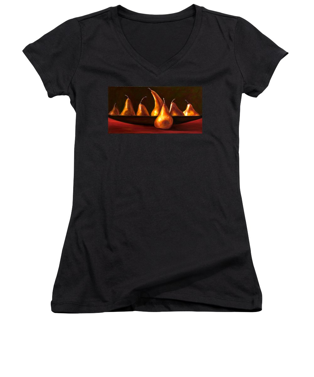 Still Life Women's V-Neck T-Shirt featuring the painting Port Au Pear by Shannon Grissom