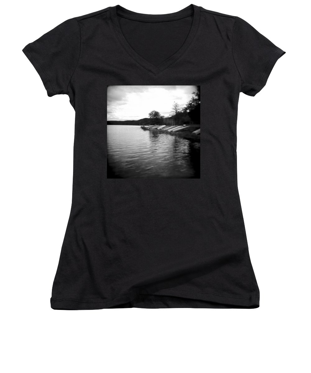 Photograph Women's V-Neck T-Shirt featuring the photograph Ready And Waiting by Jean Macaluso