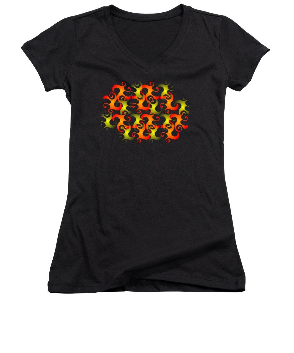 Salamanders Women's V-Neck T-Shirts