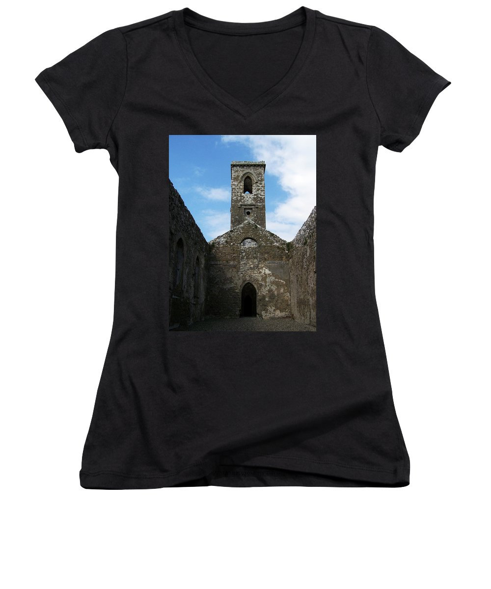 Ireland Women's V-Neck (Athletic Fit) featuring the photograph Sanctuary Fuerty Church Roscommon Ireland by Teresa Mucha