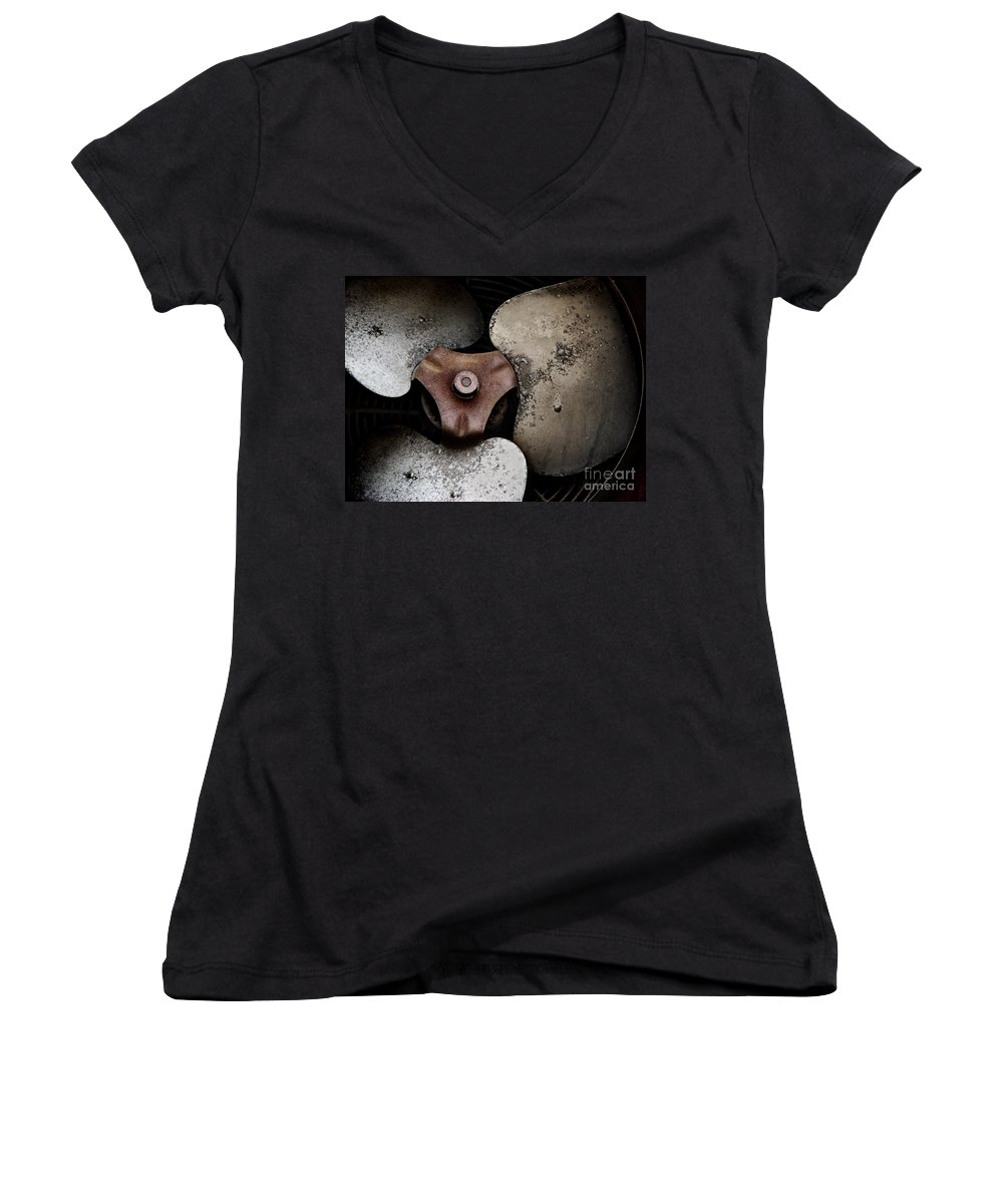Old Women's V-Neck T-Shirt featuring the photograph Scars Never Cease To Be So Beautiful To Me by Dana DiPasquale